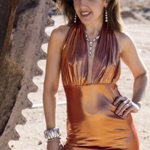 Orange Dress with gear