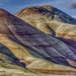 Morning shadows painted hills