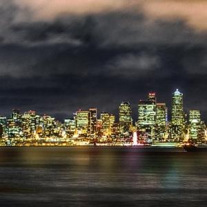 Night lights Seattle