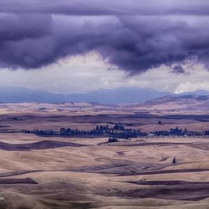 Dark cloud bank