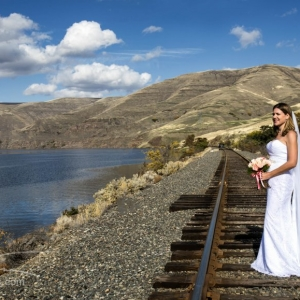 Railroad and Snake River