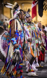 These tribal elders at the Welpinit Pow Wow had amazingly detailed costumes. Spokane Photographer Alan Tower www.alantowerphoto.com