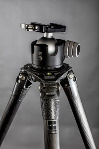 The Gitzo tripod with Really Right Stuff 55 head. Note that there is no center column.