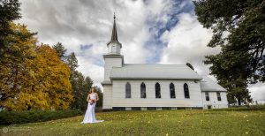 The Lutheran church near Genesee ID is quite scenic, and a lovely spot for a bride with her bouquet.