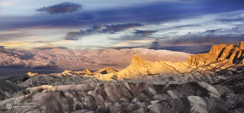 Zabriskie Point is a fabulous place to get that colorful sunrise shot in Death Valley.