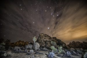 Another Desert Scene captured at night with some light painting using an LED flashlight.