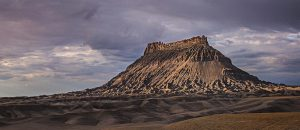 Factory Butte taken with average light.